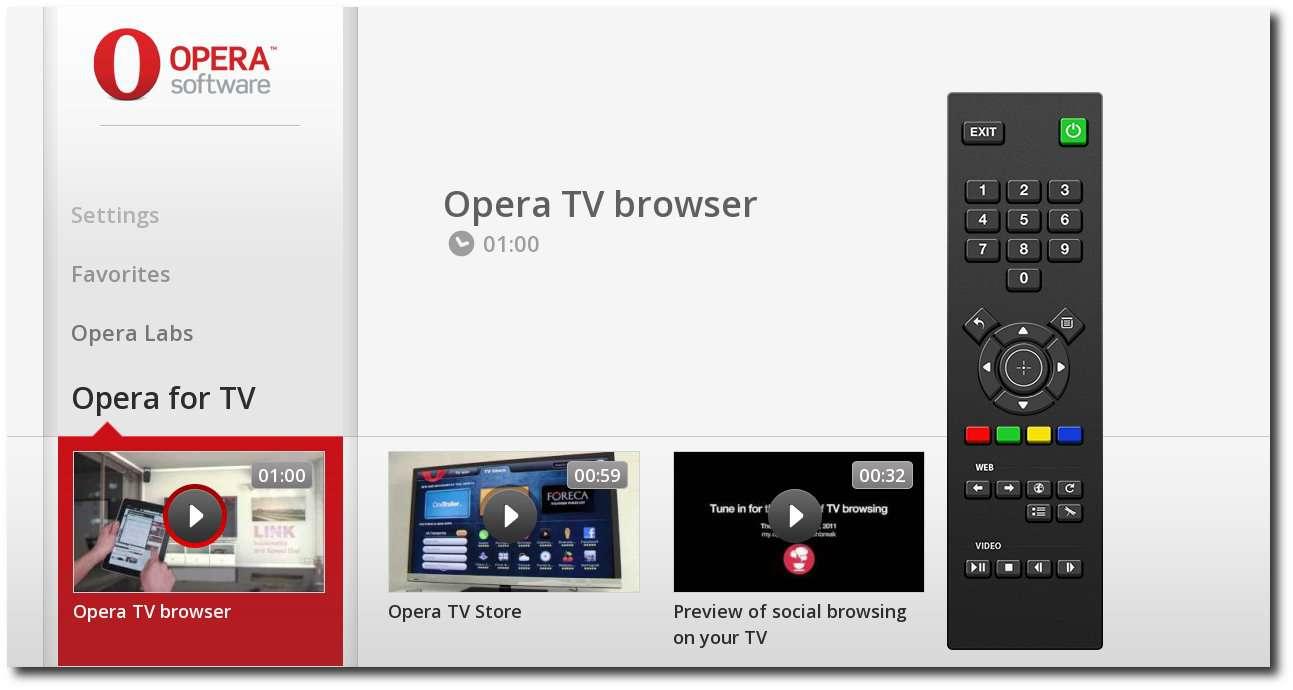 Веб - браузер Opera для работы с сетью интернет в Smart TV  | Smart