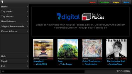 Интернет-каталог для аудио контента от Toshiba