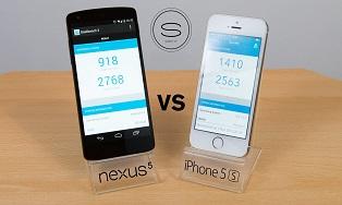 iPhone 5s vs LG Nexus 5