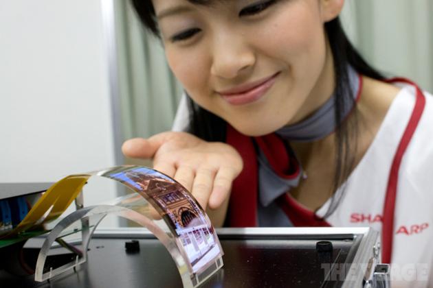 Sharp обещает научить мир выпускать экраны любой формы