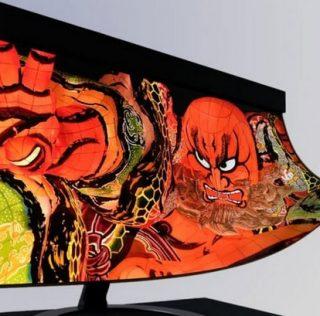 Первый в мире 30-дюймовый 4K гибкий OLED-экран от Sharp и NHK